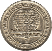 25 Cent Gaming Token - Indiana Gaming Company L.P. – obverse