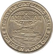 25 Cent Gaming Token - Ameristar Casino (Council Bluffs, Iowa) – obverse