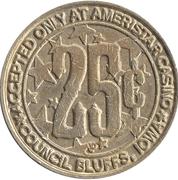 25 Cent Gaming Token - Ameristar Casino (Council Bluffs, Iowa) – reverse