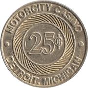 25 Cent Gaming Token - Motorcity Casino (Detroit, Michigan) – reverse