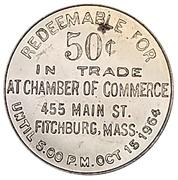 50 Cents - Fitchburg (Fitchburg, Massachusetts) – reverse