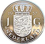 Replica - 1 Gulden (1957) – reverse