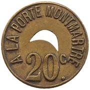 20 Centimes - A la porte Montmartre (Paris) – obverse