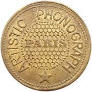 Phonograph Token - Artistic Phonograph (Paris) – obverse