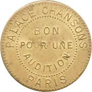 Phonograph Token - Palace Chansons (Paris) – reverse