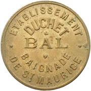 Token - Etablissement Duchet - Bal (Ivry sur Seine) – reverse