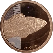 Token - Real Animals Series (Grouper) – obverse