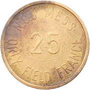 25 Cents - N.C.O. Mess (Orly Field) – obverse
