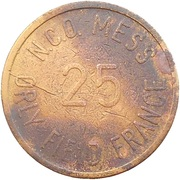 25 Cents - N.C.O. Mess (Orly Field) – reverse