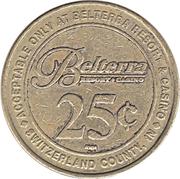25 Cent Gaming Token - Belterra Resort & Casino  (Switzerland County, Indiana) – obverse
