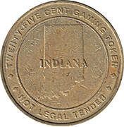25 Cent Gaming Token - Belterra Resort & Casino  (Switzerland County, Indiana) – reverse