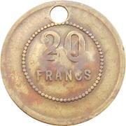 20 Francs - Societe de Thy-le-Château -  reverse