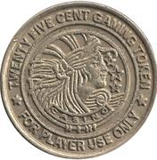 25 Cent Gaming Token - Palm Beach Princess – reverse