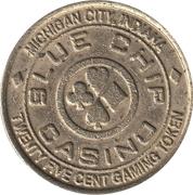 25 Cent Gaming Token - Blue Chip Casino (Michigan City, Indiana) – obverse