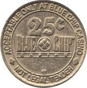 25 Cent Gaming Token - Blue Chip Casino (Michigan City, Indiana) – reverse