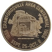 ½ Dollar - Crawfordsville Area Centennial (Crawfordsville, Indiana) – obverse