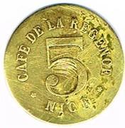 5 Centimes - Café de la Régence (Nice) – reverse