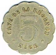 5 Centimes - Café de la Régence (Nice) – obverse