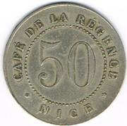 50 Centimes - Café de la Régence (Nice) – obverse