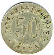 50 Centimes - Café de la Régence (Nice) – reverse