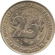 25 Cent Gaming Token - Showboat Marina Casino Partnership (East Chicago, Indiana) – obverse