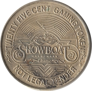 25 Cent Gaming Token - Showboat Marina Casino Partnership (East Chicago, Indiana) – reverse
