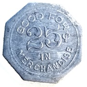 25 Cents - S. H. Jackson (Unionville, Missouri) – reverse