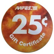 25 Cents - Army & Air Force Exchange Gift Certificate – reverse