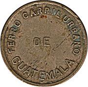 ½ Real - Ferro Carril Urbano (Urban railway of Guatemala City) – obverse