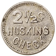 2½ Cents Husking Check - Klindt-Geiger Canning Co. (Cassville, Wisconsin) – reverse