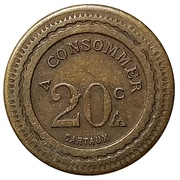 20 Centimes - A Consommer (355) – obverse