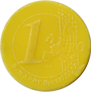 Shopping Cart Token - Simply (1 Euro) -  reverse