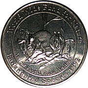Medallion - Westpac Australian Species (Yellow Footed Rock Wallaby) – obverse