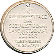 Token - Meissen (V. Kulturfesttage) – reverse