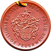 Medal - Freiwillige Feuerwehr Riesa (Automobile Rettungsleiter) – reverse