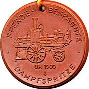 Medal - Freiwillige Feuerwehr Riesa (Pferde-Bespannte Dampfspritze) – obverse