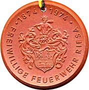 Medal - Freiwillige Feuerwehr Riesa (Pferde-Bespannte Dampfspritze) – reverse