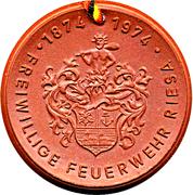 Medal - Freiwillige Feuerwehr Riesa (Abprotzspritze Triumph) – reverse