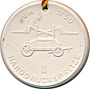 Medal - Freiwillige Feuerwehr Riesa (Handdruckspritze) – obverse