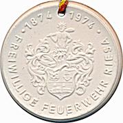 Medal - Freiwillige Feuerwehr Riesa (Handdruckspritze) – reverse