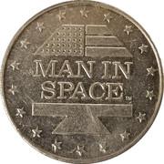 Shell Oil Token - Man In Space (Mercury III) – reverse