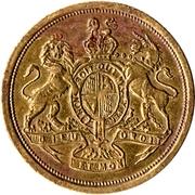Token (Blazon of Paris / Royal arms of the United Kingdom) – reverse