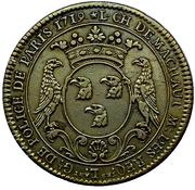 Token - Louis-Charles de Machault, Lieutenant Général de Police – obverse