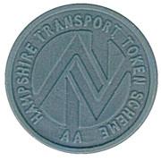 5 Pence Transport Token - Hampshire – obverse