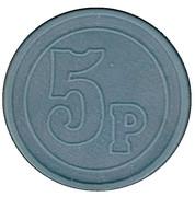 5 Pence Transport Token - Hampshire – reverse