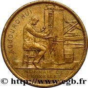 Token - Brussels International 1910 – reverse