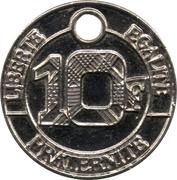 Shopping Cart Token - Allez Troyes (10 Francs) – reverse