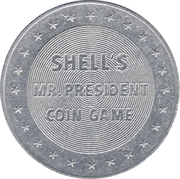 Token - Shell's Mr. President Coin Game (Rutherford B. Hayes) – reverse