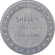 Token - Shell's Mr. President Coin Game (Warren G. Harding) – reverse