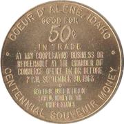 50 Cents - Idaho Centennial (Coeur d' Alene, Idaho) – reverse